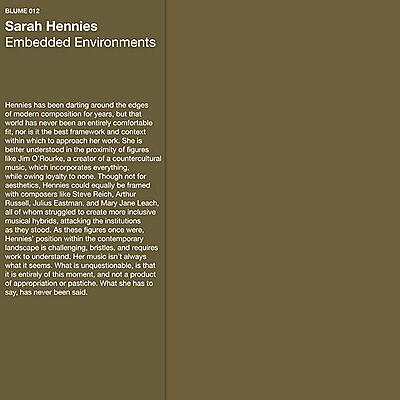 Sarah Hennies - Embedded Environments
